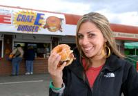 The Craz-E burger (a bacon cheeseburger on a glazed donut) went viral after we launched it on behalf of The Big E Eastern States Exposition, West Springfield, Mass.