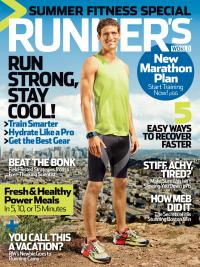 CW-X Performance Apparel appears on the cover of Runner's World