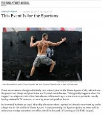 Reebok Spartan Race demonstration event in Times Square is covered by the Wall Street Journal.